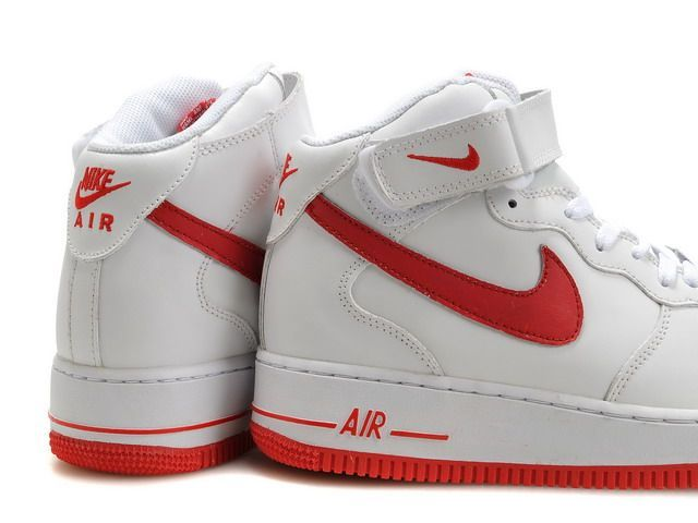 nike air force 1 mid rouge